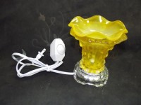 Luxury Fragrance Halogen Oil Wax Scent Glass Lamp Light Yellow